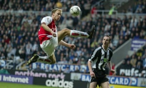 Arsenal's Dennis Bergkamp was one of the most influential players in the Premier League, scoring and creating memorable goals.