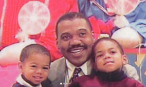 Chance the Rapper (right) as a youngster, with his father, Ken, and his brother, fellow rapper Taylor Bennett