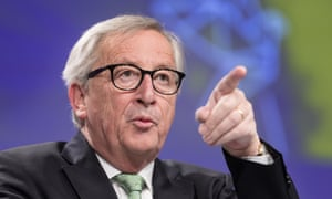 Jean-Claude Juncker speaking at his press conference earlier.