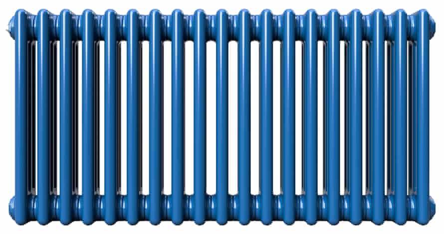 Horizontal column radiator in signal blue, from £133.40, columnrads.co.uk