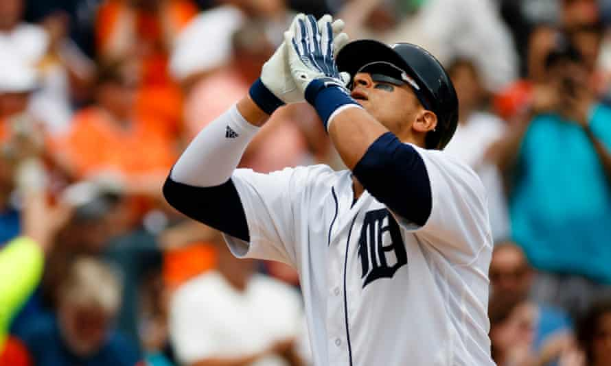 The Detroit Tigers' Victor Martinez is currently one of baseball's best switch hitters