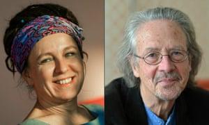 Polish author Olga Tokarczuk and Austrian novelist and playwright Peter Handke.