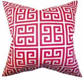 Pink key cushion cover