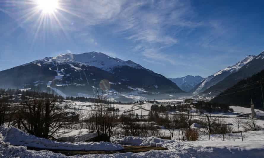 The Bormio 3000 ski resort is seen in the Italian Alps.