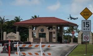 Andersen airforce base in Guam.