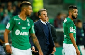 Claude Puel enjoyed a happy start at St Étienne on Sunday.