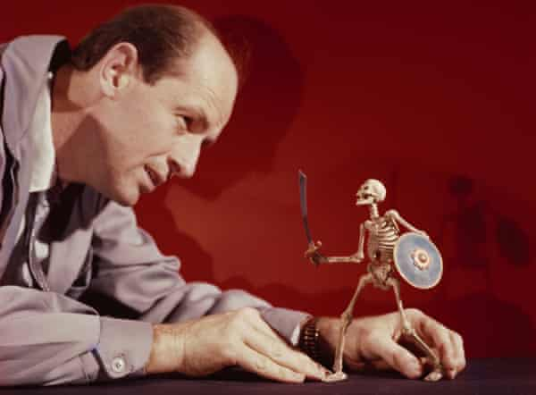 It came from the outer Aegean ... Harryhausen animating a skeleton model in 1958.