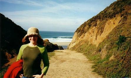 Laurie Gough beside the sea.