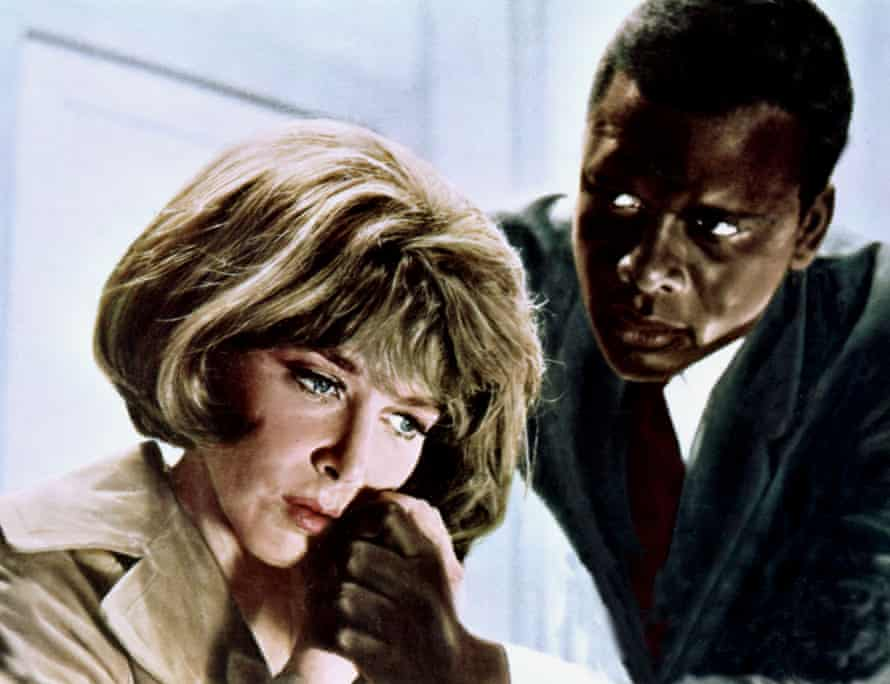 In the Heat of the Night: Lee Grant and Sidney Poitier.