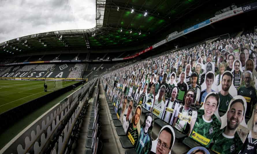 Borussia Mönchengladbach utilised 12,000 cardboard cut-outs of fans