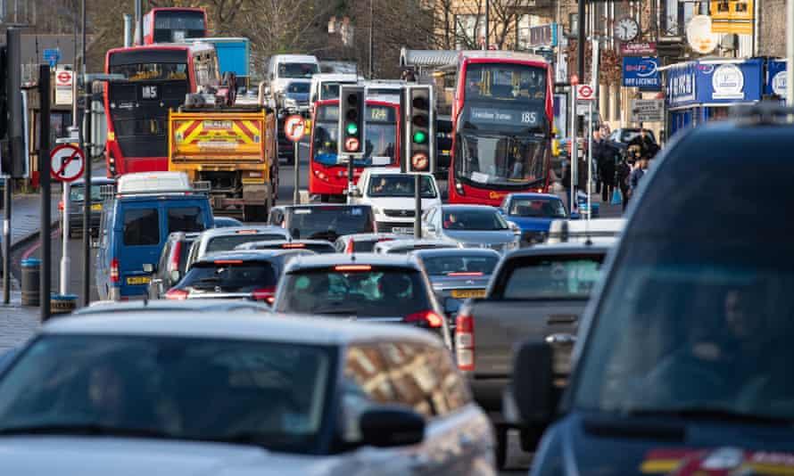 Traffic in south London