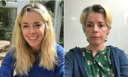 Tamsin Michael's before and after haircuts.