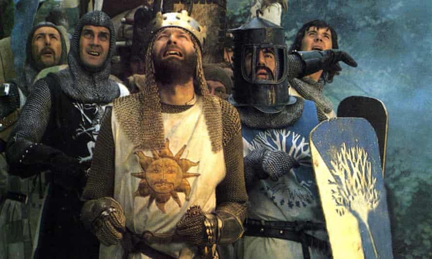 The team in Monty Python and the Holy Grail, which Jones co-directed with Terry Gilliam.