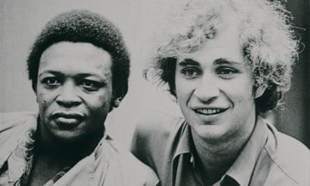 Back in the day … Hugh Masekela and Stewart Levine, organisers of Zaire 74.
