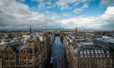 City skyline of Edinburgh