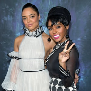 Monáe with Tessa Thompson at a film premiere