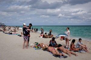 Florida, US: revellers flock to Miami Beach to celebrate spring break, amid the coronavirus outbreak
