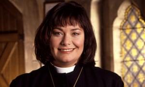 Dawn French as the Rev Geraldine Granger in BBC TV's The Vicar of Dibley.