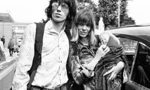 Keith Richards and Anita Pallenberg with their baby son Marlon in 1969