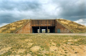 A bunker built to hold nuclear warheads now lies open to the elements.