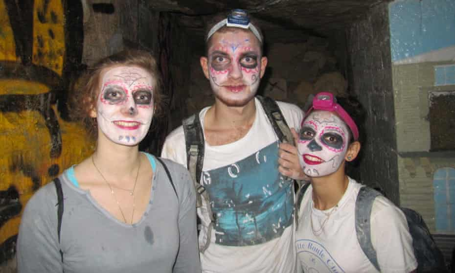 Squad ghouls … Kataloween-goers last year.