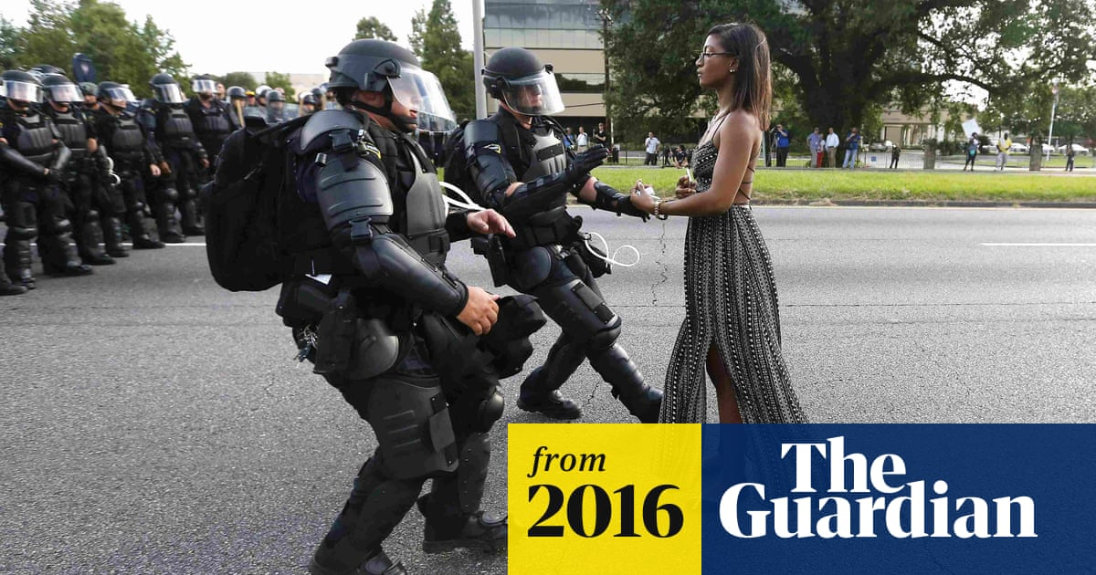 She was making her stand': image of Baton Rouge protester an instant