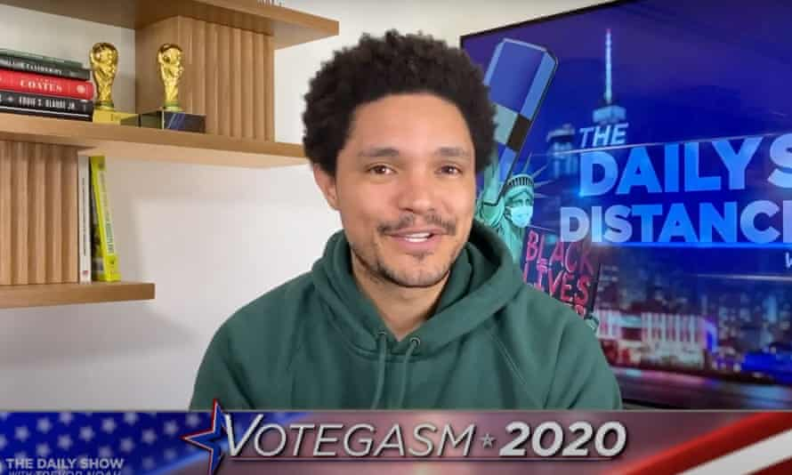 """Trevor Noah on the VP debate: """"It was kind of like a throwback to what campaigns used to be like, before Donald Trump arrived on the scene and turned every political event into a monster truck rally on cocaine."""""""