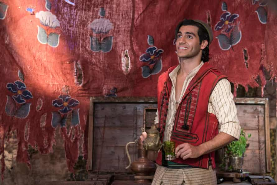 Mena Massoud as Aladdin in Disney's live-action remake.
