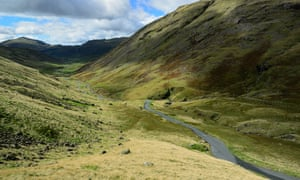 Wrynose Pass in the Lake District