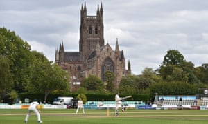 Morne Morkel hits the winning runs for Surrey to seal the County Championship crown at Worcestershire's New Road ground.