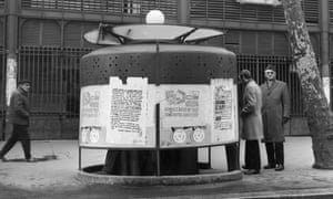 Esoteric subcultures … a urinal at Les Halles, 1969, which appears in Les Tasses.
