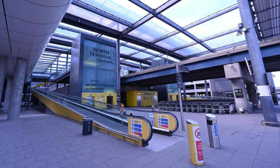 Empty Gatwick terminal