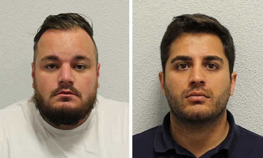 Harry Fisher (left) and Zak Lal (right) have been jailed after for offending involving class A drugs and the missing painting.