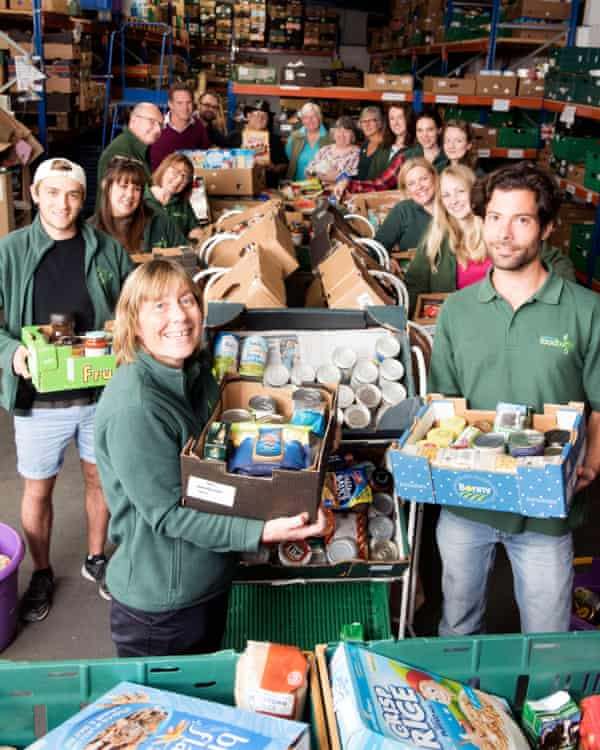 The Trussell Trust food bank charity at their Salisbury depot.