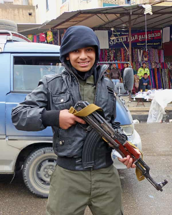 A 15-year-old Isis policeman. 'We are here to help.'