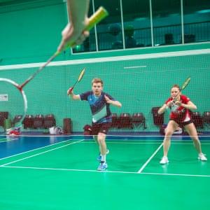 Marcus Ellis and Lauren Smith at the National Badminton Centre, Milton Keynes
