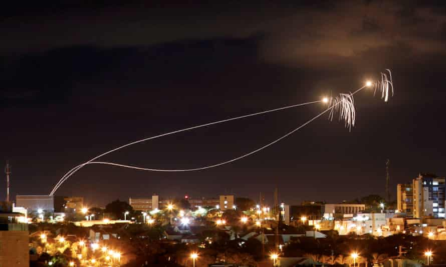 Israel's anti-missile system in action