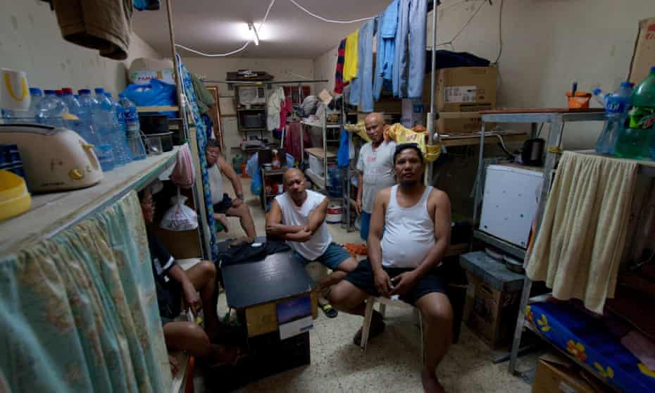 Hundreds of thousands of migrant workers live in crowded dormitories in the Industrial Area outside Doha, often packed eight or 10 to a room.