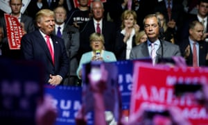 Donald Trump and Nigel Farage in Mississippi on the US campaign trail.