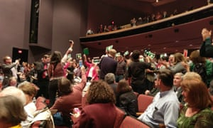 """The crowd at the town hall with Congressman Leonard Lance was mostly hostile, with some yelling: """"Do your job!"""""""