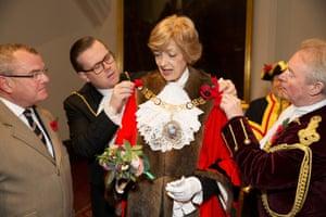 Lord Mayor's Show, Fiona Woolf, Guildhall Yard, City of London, 2013