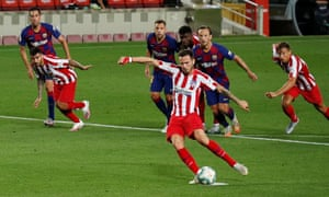 Atletico Madrid's Saul Niguez scores his second penalty of the night.