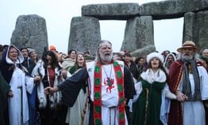 The scene at Stonehenge this morning.