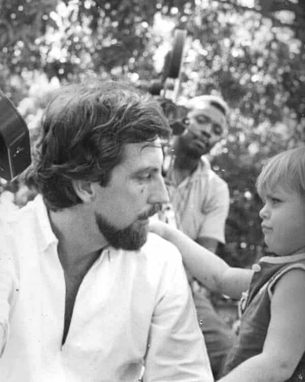 A life on set … Justine Henzell with her father Perry in 1968