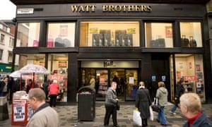 The Watt Brothers flagship store on Glasgow's Sauchiehall Street