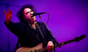 Robert Smith of the Cure at Glastonbury festival.
