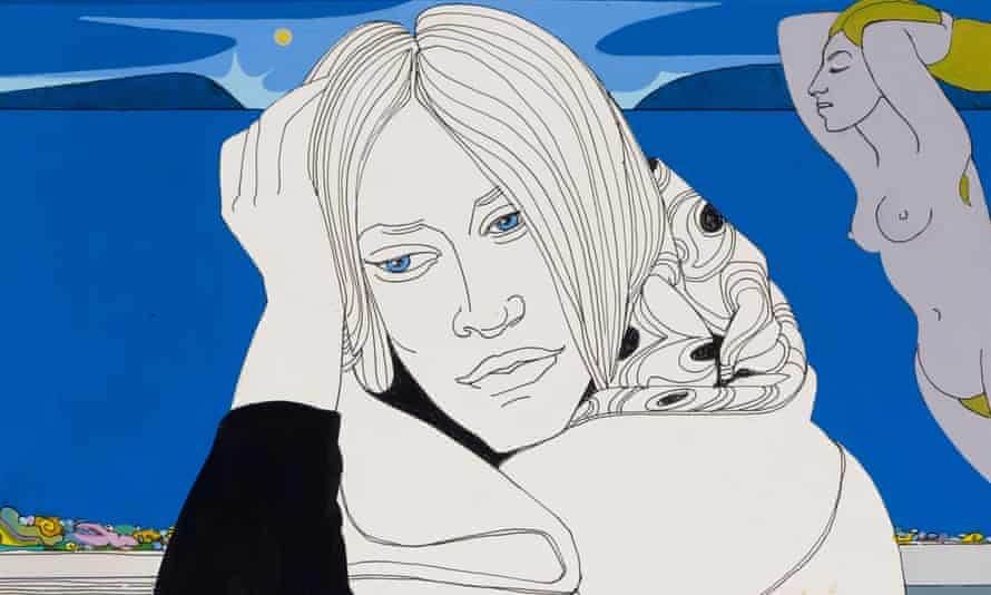 Detail from Alasdair Gray's 1977 Marion Oag and the Birth of the Northern Venus