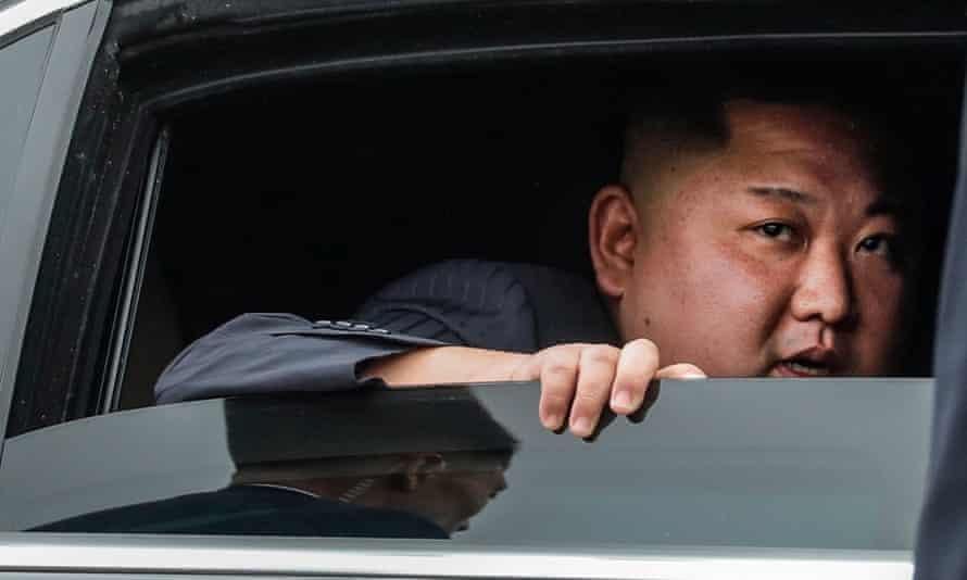 North Korean leader Kim Jong-un as he arrives in Dong Dang ahead of the second US-North Korea summit in Hanoi, Vietnam