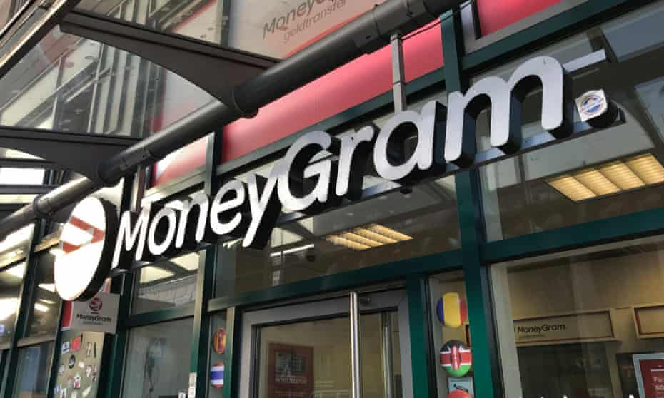 A MoneyGram office in Frankfurt, Germany