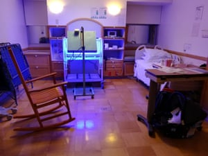 A phototherapy room at the San Diego hospital where Xu and Li's baby was born, 2018.